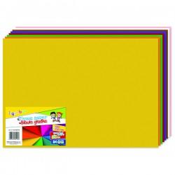 Hedvábný papír 50x70 cm, mix barev, 24 ks