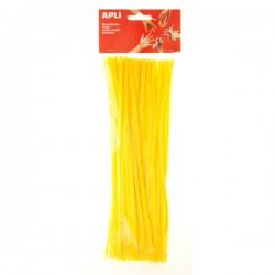 Drátek - žinylka, 30 cm, průměr 6 mm, 50 ks, žlutý