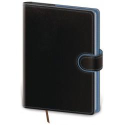 DFL422-2- denní diář A5 Flip, černo/modrá