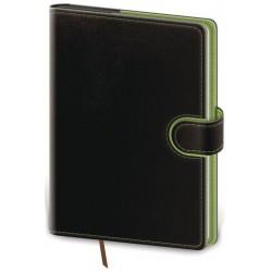 DFL422-3- denní diář A5 Flip, černo/zelená