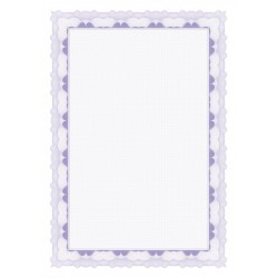 Certifikační papír, A4/95g, 20 ks, fialový