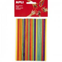 Špejle dřevěné, 150 x 5 mm, mix barev - 25 ks