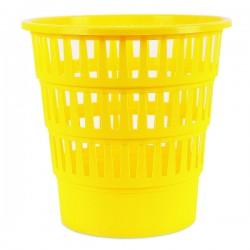 Koš na odpadky, děrovaný, žlutý plast