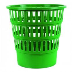 Koš na odpadky, děrovaný, zelený plast