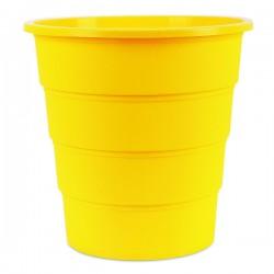 Koš na odpadky plný, žlutý plast