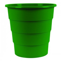 Koš na odpadky plný, zelený plast