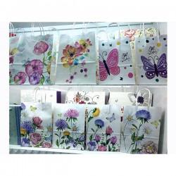Taška papírová Craft-bílá 18,5 x 25,5 x 9,5 cm