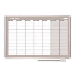Tabule magnetická, týdenní plánovací, 60 x 90 cm