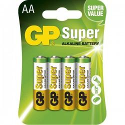 Tužk.baterie alkalická 1,5 V GP Super, AA LR06, 4ks