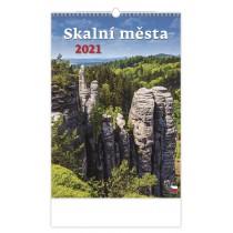 """N113-21 - nástěnný kalendář """"Skalní města"""""""