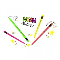 Dřevěná tužka Star Neon, s pryží