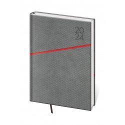 DGR422-8- denní diář A5 Grife, šedo/červený