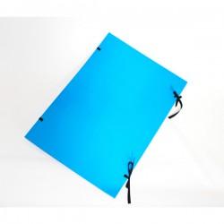Fasciklové desky A2, tkanice, jednostranné modré