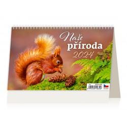 """S22-22 - stolní kalendář """"Naše příroda"""""""
