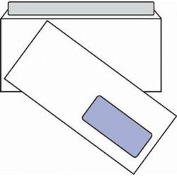 Obálka DL, 110x220, 80g, okénko, krycí páska,  100 ks