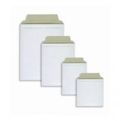 Kartonová obálka B4, 28,0 x 38 cm, bílá se strh. pruhem