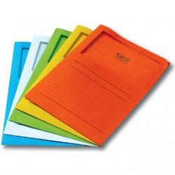 "Zakládací složka A4 ""L"", okénko s folií ORDO, oranžová"