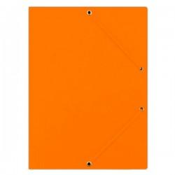 Odkládací mapa A4, prešpán, 3 klopy, gumička, oranžová
