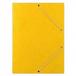 Odkládací mapa A4, prešpán, 3 klopy, gumička, žlutá