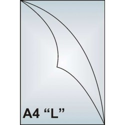 "Zakládací obal A4 ""L"", 90mic, matný, AH101, 100 ks"