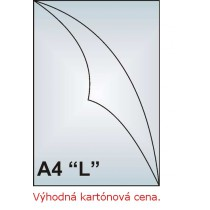 "Zakládací obal A4 ""L"", 110mic, matný, AH101, 1000 ks"