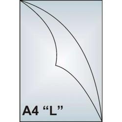 """Zakládací obal A4 """"L"""", 130mic, čirý, hladký, AH102"""