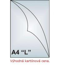 """Zakládací obal A4 """"L"""", 130mic, čirý, hladký, AH102, 1000 ks"""