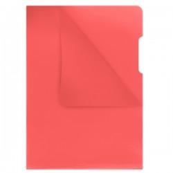 """Zakládací obal A4 """"L"""", PP, 130mic, AH011, červený"""