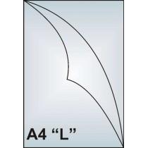 "Zakládací obal A4 ""L"", 180mic, matný, AH181"