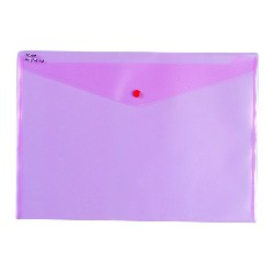 PP desky A4, klopa + patentka, transparent, TIM204/červené