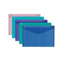 Desky A4, klopa + patentka, ELECTRA, sada - 5 barev