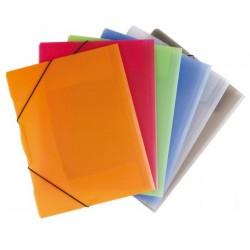 Desky OPALINE A4, 3 klopy + gumičky, 2-594/oranžové