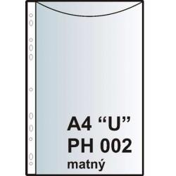 "Zakládací obal závěsný A4 ""U"", PH002, PP matný"