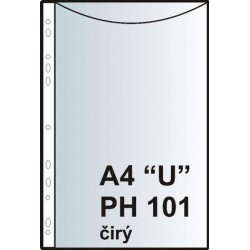 "Zakládací obal závěsný A4 ""U"", PH101, PP hladký"