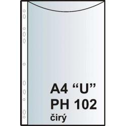 """Zakládací obal závěsný A4 """"U"""", PH102, PP silný"""
