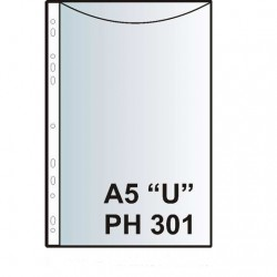 "Zakládací obal závěsný A5 ""U"", PH301, PP matný"