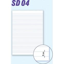 Papír kancelářský A3/80g, linka, přeložený, 200 arch