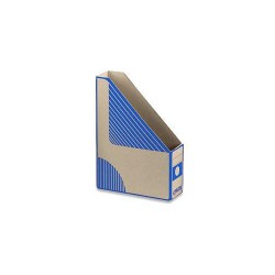Pořadač stolní A4, skládaný karton EMBA, modrý