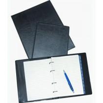Čtyřkroužkový zápisník A4, s náplní link.papírů, kůže lesklá