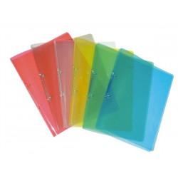 Desky PP A4 dvoukroužkové, transparent, modré