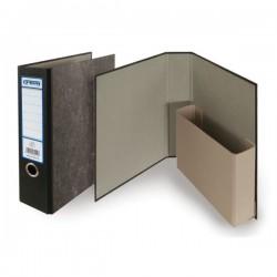 Pořadač A4 archivní s kapsou, mramorovaný karton