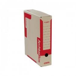 Archivní krabice EMBA 330x260x75 mm červená