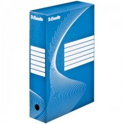 Archivní krabice A4 kartonová modrá s potiskem, 8cm, 128411