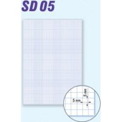 Papír kancelářský A3/80g, čtvereček, přeložený, 200 arch