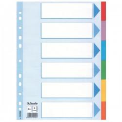Rozdružovač A4 1x6 barev, kartonový, ESS100192