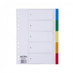 Rozdružovač A4 1x5 barev, plastový, Spoko
