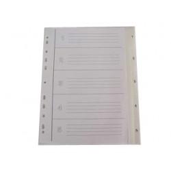Rozdružovač A4 1-5, šedý, plastový, MAXI šířka, ROZ 1-5