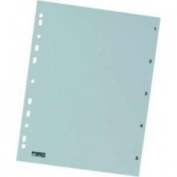 Rozdružovač A4 1-5, šedý, plastový, ROZ 1-5