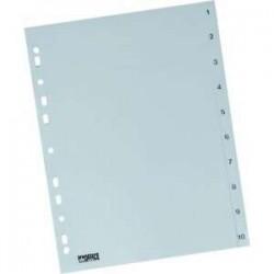Rozdružovač A4 1-10, šedý, plastový, ROZ 1-10