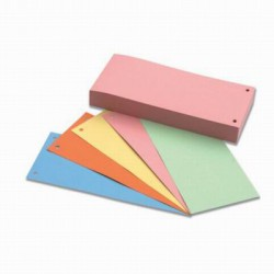 Rozdružovač páskový kartonový,složka 50ks, 5barev